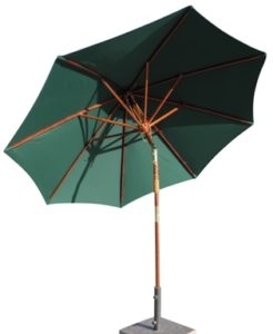 9 Foot Wood Tilt Umbrella