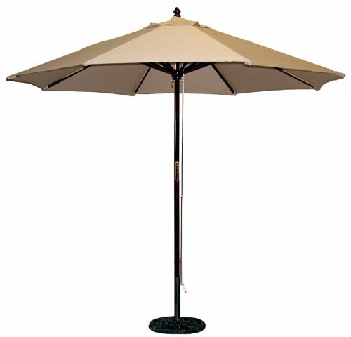 9 ft Wood Commercial Umbrella