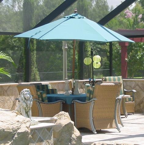 7 Wooden Commercial Umbrella Shadeusa