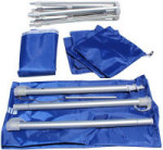 "TeleBrella stows in 24"" carry bag"