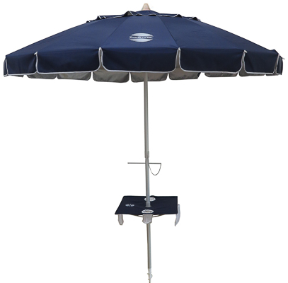 Patented wrap around beach table to keep food, drinks, electronics and beach essentials out of the sand
