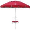8' beach umbrella table red up