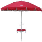 8' beach umbrella table red up