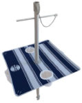 beach umbrella table nautical blue downward