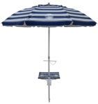 7' beach umbrella table nautical blue up