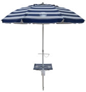 7' beach umbrella table nautical blue up