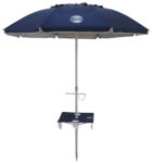 7' beach umbrella table navy blue up