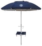 7' beach umbrella table navy blue up