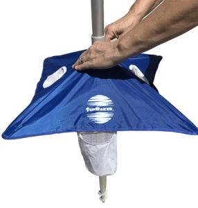 beach umbrella table push