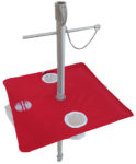 beach umbrella table red downward