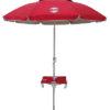 7' beach umbrella table red up