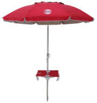 7' beach umbrella table red up