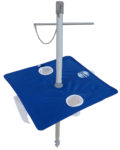 7' beach umbrella table royal blue downward