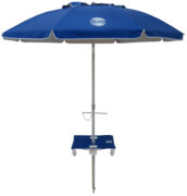 7' beach umbrella table royal blue