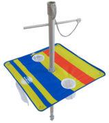 7' beach umbrella table solera downward