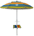 7' beach umbrella table solera