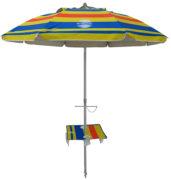 7' beach umbrella table solera