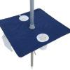 portabrella beach umbrella table navy blue open