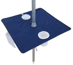 portabrella beach umbrella table navy blue open