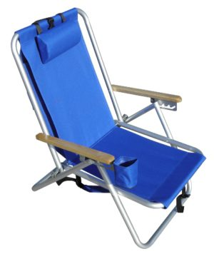 Rio SC540 Backpack Beach Chair Royal Blue