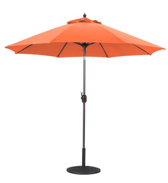 9′ Sunbrella B Aluminum Umbrella with Crank