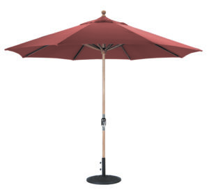 11 Teak Umbrella Galtech 587