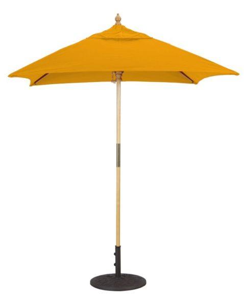 6x6 Wood Umbrella Galtech 161
