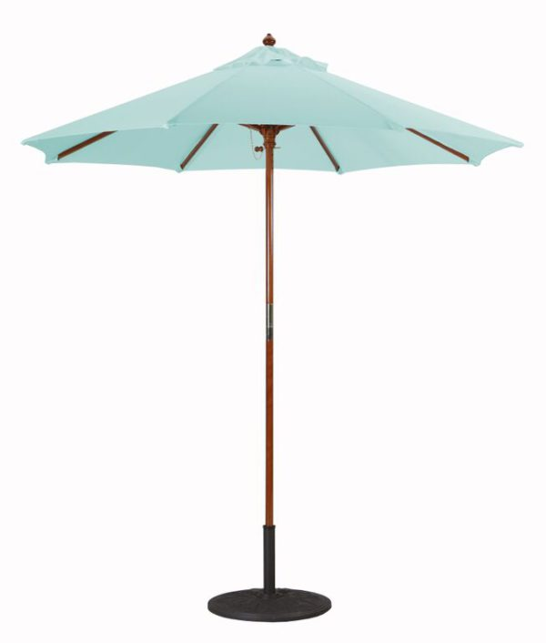 7.5' Wood Umbrella Galtech 221