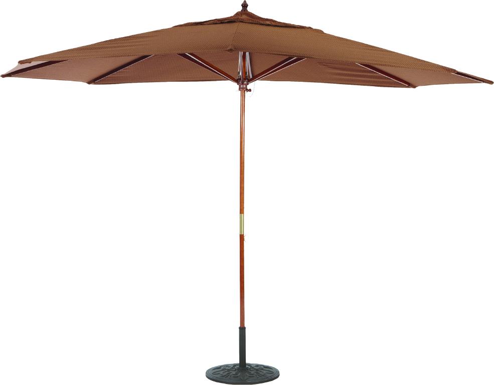 8x11 Wood Umbrella Galtech 279