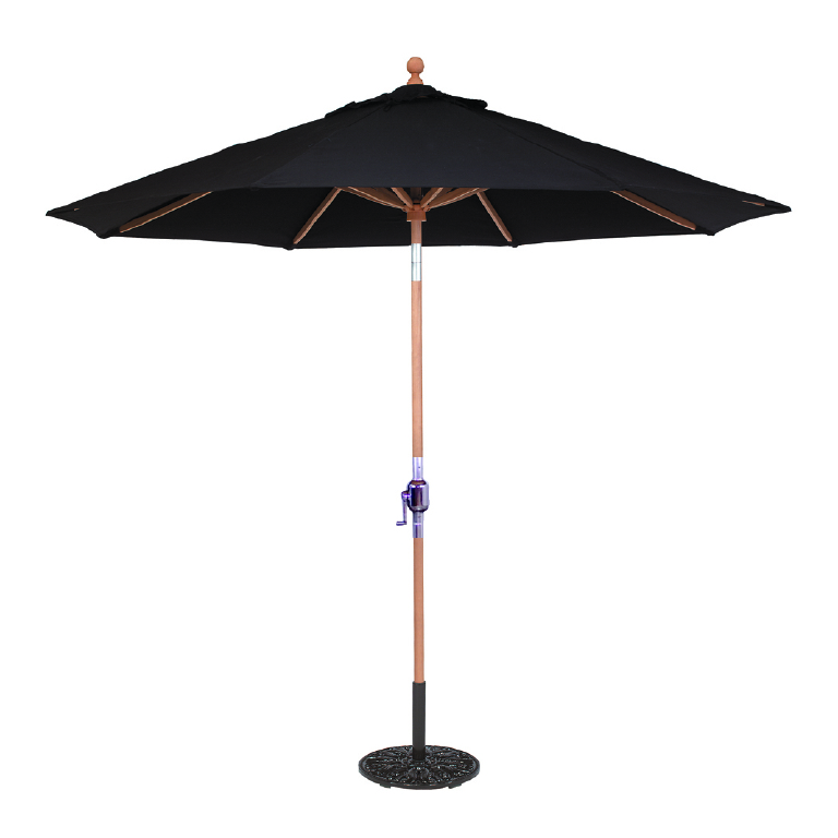 9 Teak Umbrella Galtech 537