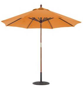 9' Wood Umbrella Galtech 132