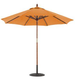 9' Wood Umbrella Galtech 132