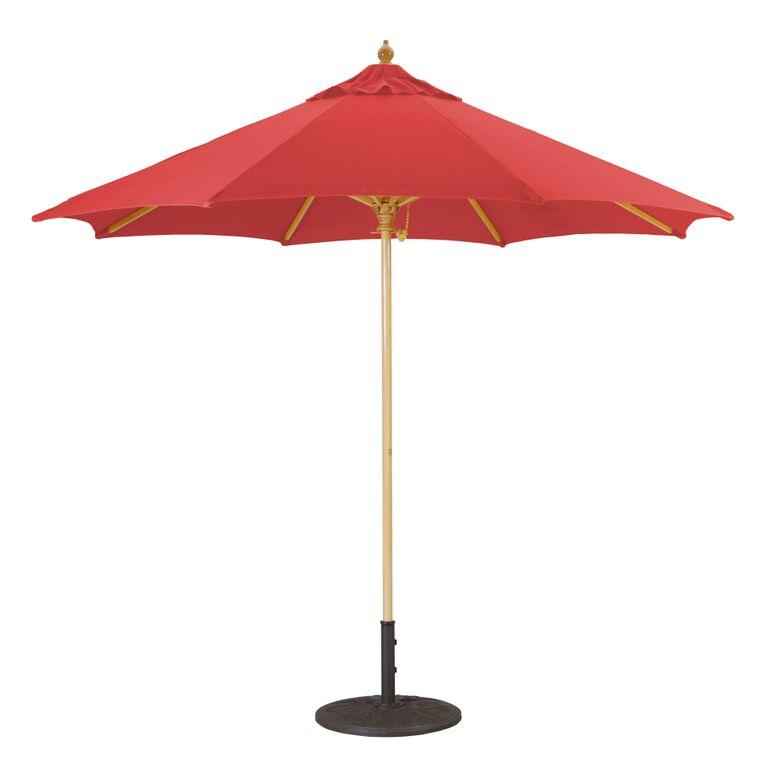9 Wooden Patio Umbrella With Suncrylic Shade Canopy