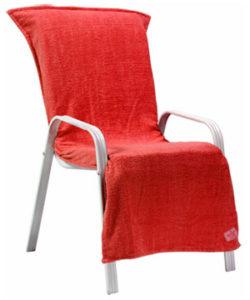 beach chair towel red