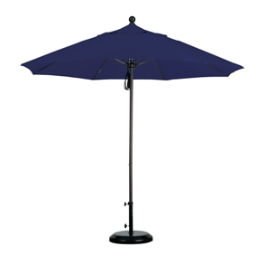 9 Foot Aluminum Umbrella with Rope and Pulley
