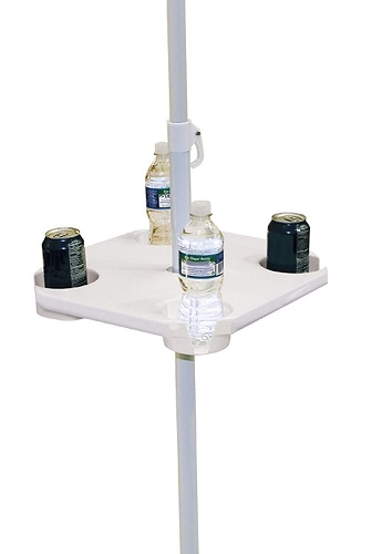 Beach Umbrella Table Pole Mounted