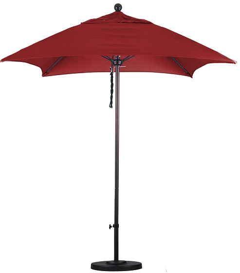 6' square Sunbrella AA patio umbrella ALTO604