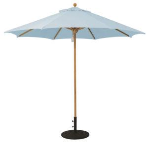 Galtech 532TK single-pole teak market/patio umbrella with Suncrylic canopy