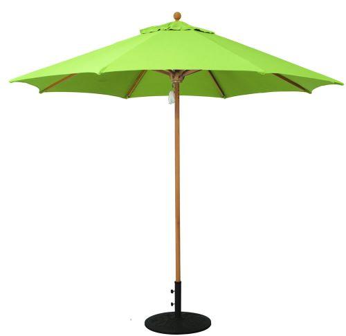Galtech 532TK single-pole teak market/patio umbrella