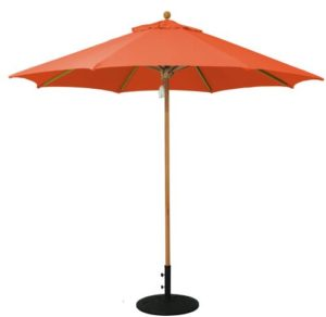 Galtech 532TK single-pole teak market/patio umbrella