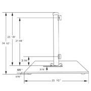 110 pound galvanized steel patio umbrella stand holder (specs)