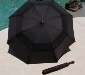 Black golf umbrella on sale