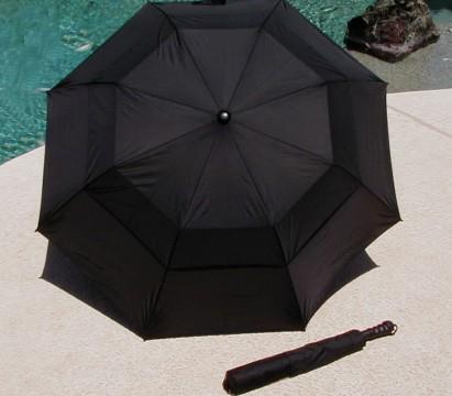 Black golf umbrella on sale