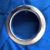 This is a grommet. A grommet is measured by the opening and not the width of the metal ring itself.