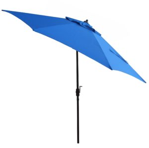 11' foot aluminum patio umbrella with auto tilt