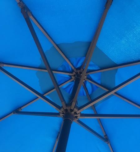 Aluminum Patio Umbrella Replacement Frame: Antique Bronze