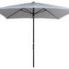 Bright White Rectangular Patio Umbrella