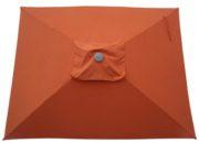 Tuscan Orange Rectangular Patio Umbrella