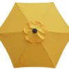 yellow poly umbrella canopy with 6 ribs